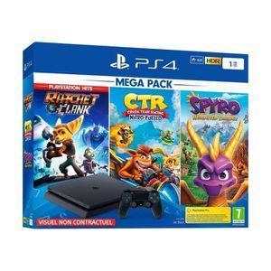 CONSOLE PS4 Console PS4 Slim 1To Noire/Jet Black + Ratchet & C