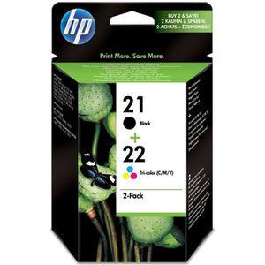 CARTOUCHE IMPRIMANTE HP 21/HP 22 pack de 2 cartouches d'encre noire/tro