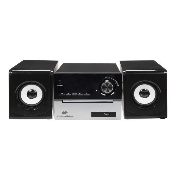 continental edison chaine hifi bluetooth lecteur cd radio fm usb chaine hi fi avis et prix. Black Bedroom Furniture Sets. Home Design Ideas