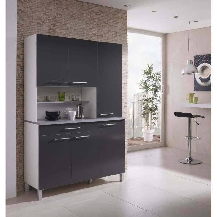 agueda buffet de cuisine 120cm gris achat vente buffet de cuisine agueda buffet de cuisine. Black Bedroom Furniture Sets. Home Design Ideas
