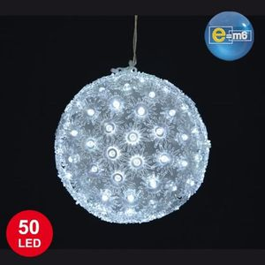 boule lumineuse led blanche achat vente boule lumineuse led blanche pas cher cdiscount. Black Bedroom Furniture Sets. Home Design Ideas