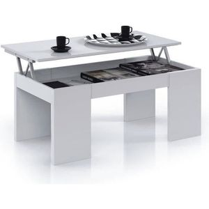 Table basse avec plateau relevable achat vente table - Table de salon transformable ikea ...
