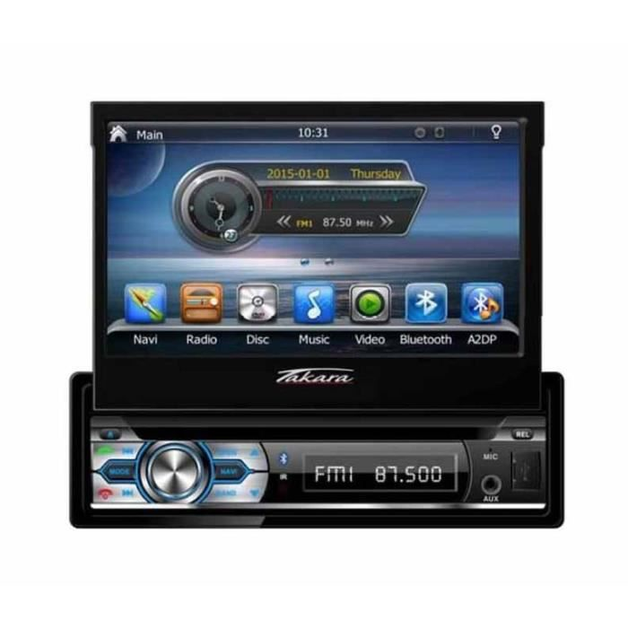 takara gpv1827bt autoradio 2din dvd gps usb bluetooth autoradio double din achat vente. Black Bedroom Furniture Sets. Home Design Ideas