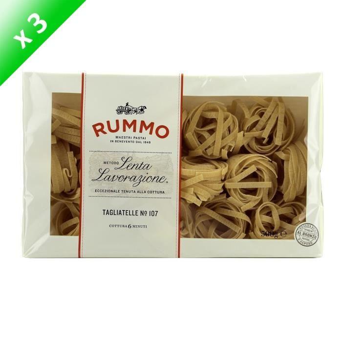 SPAGHETTI TAGLIATELLE [LOT DE 3] RUMMO Pâtes Tagliat Nidi N°107 - 500 g