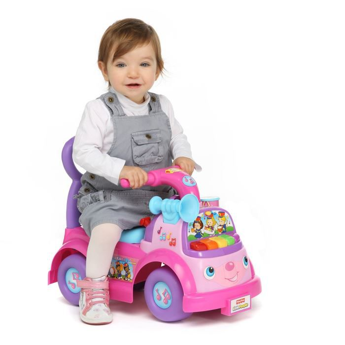 Fisher-Price - Porteur-Pousseur Musical Rose