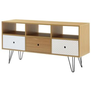 meuble tv achat vente meuble tv pas cher cdiscount. Black Bedroom Furniture Sets. Home Design Ideas