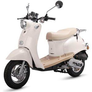 SCOOTER Scooter rétro 50cc 4Temps  EURO 4 Blanc  + Carte G