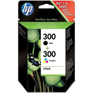 CARTOUCHE IMPRIMANTE HP 300 pack de 2 cartouches d'encre noire/trois co