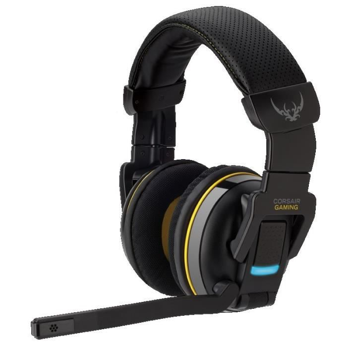 corsair casque gaming h2100 sans fil 7 1 dolby prix pas. Black Bedroom Furniture Sets. Home Design Ideas