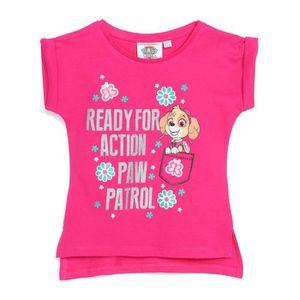 T-SHIRT PAT PATROUILLE Tee-Shirt Fuchsia Enfant Fille Séri