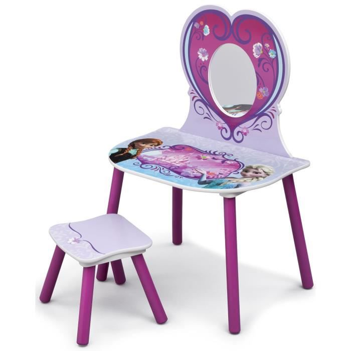 la reine des neiges coiffeuse enfant en bois et tabouret achat vente table jouet d 39 activit. Black Bedroom Furniture Sets. Home Design Ideas