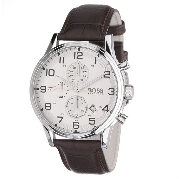 hugo boss montre chronographe homme marron achat vente montre cdiscount. Black Bedroom Furniture Sets. Home Design Ideas