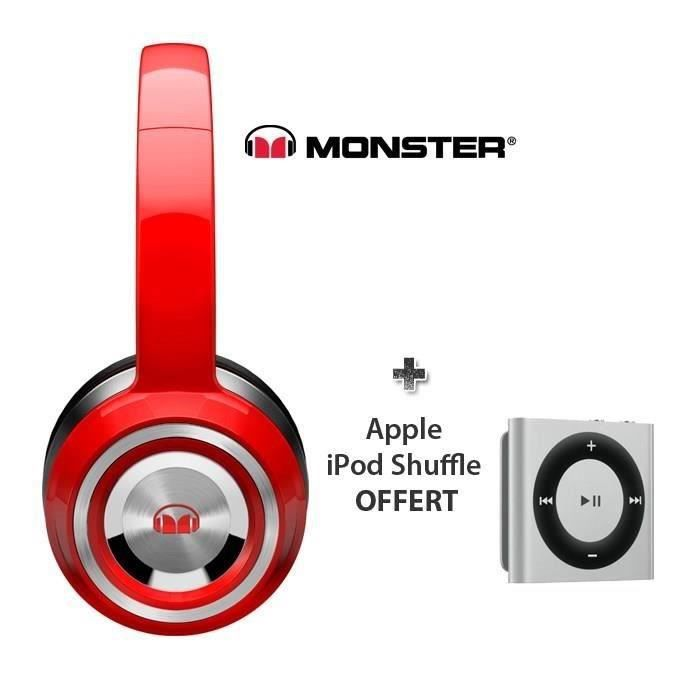 monster ntune solid casque rouge + ipod shuffle Achat / Vente casque