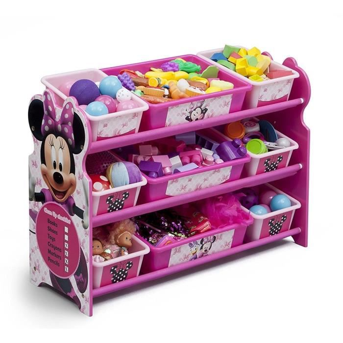 minnie meuble de rangement enfant 9 bacs plastique achat. Black Bedroom Furniture Sets. Home Design Ideas