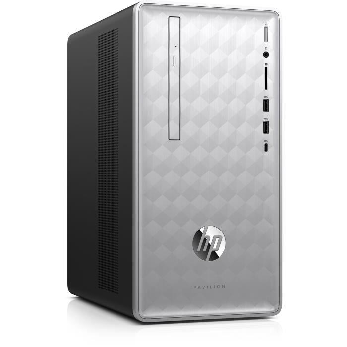 UNITÉ CENTRALE  HP PC de Bureau Pavilion HP590-p0097nf - Core i7-8