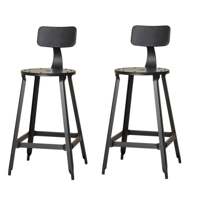 tabouret industriel achat vente tabouret industriel pas cher cdiscount. Black Bedroom Furniture Sets. Home Design Ideas