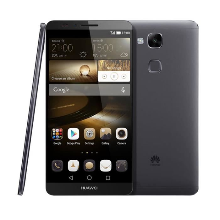 huawei ascend mate 7 4g noir achat smartphone pas cher. Black Bedroom Furniture Sets. Home Design Ideas