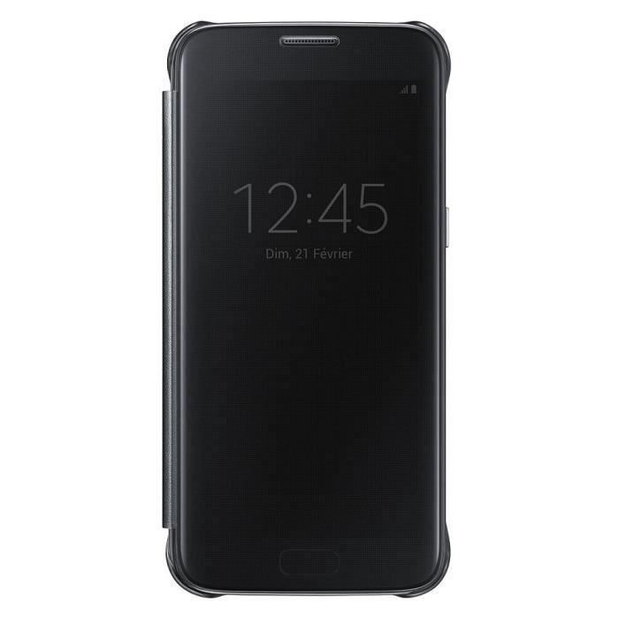 samsung etui clear view cover pour galaxy s7 noir. Black Bedroom Furniture Sets. Home Design Ideas