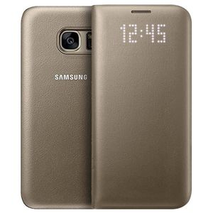 HOUSSE - ÉTUI Samsung LED View Cover S7 - Or
