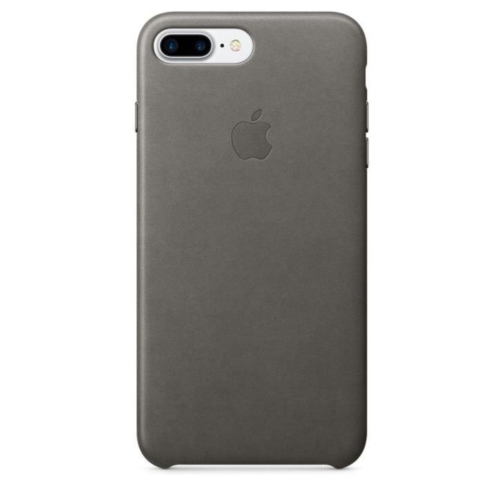 apple coque en cuir pour iphone 7 plus gris orage