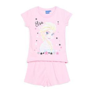 PYJAMA LA REINE DES NEIGES Pyjama Rose Enfant Fille Sérig