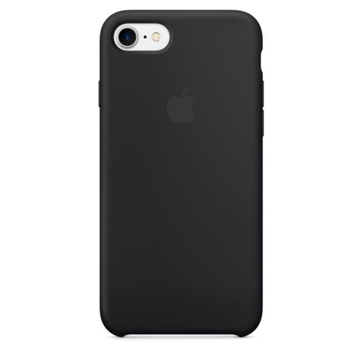 apple coque en silicone pour iphone 7 plus noir