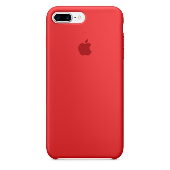 apple coque en silicone pour iphone 7 plus rouge achat coque bumper pas cher avis et. Black Bedroom Furniture Sets. Home Design Ideas