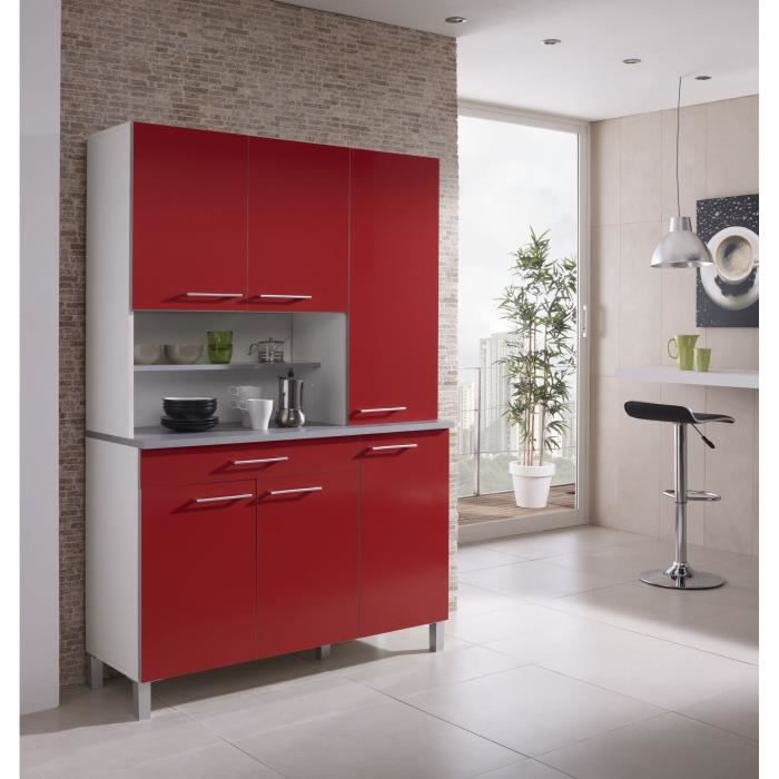 agueda buffet de cuisine 120cm rouge achat vente buffet de cuisine agueda buffet de. Black Bedroom Furniture Sets. Home Design Ideas