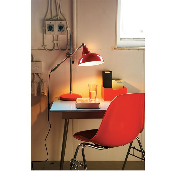 office retro lampe de bureau rouge achat vente office. Black Bedroom Furniture Sets. Home Design Ideas