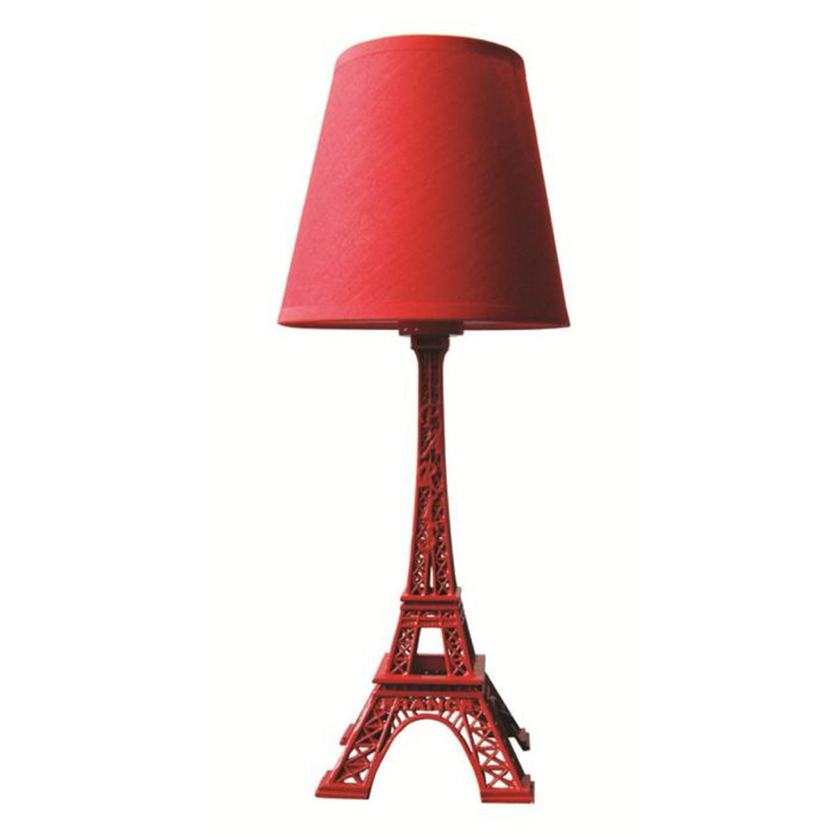 lampe tour eiffel rouge hauteur 38 cm achat vente. Black Bedroom Furniture Sets. Home Design Ideas