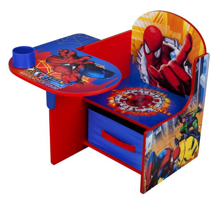 delta children banc coffre bureau enfant 3 en 1 spiderman On bureau coffre 3 en 1