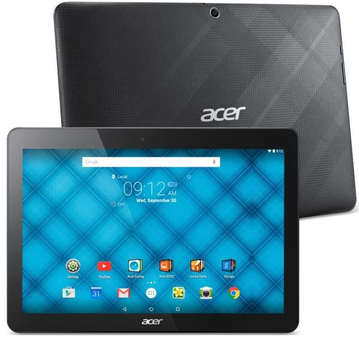 acer tablette 10 iconia one 10 b3 a10 noire 16 go nt achat vente tablette. Black Bedroom Furniture Sets. Home Design Ideas
