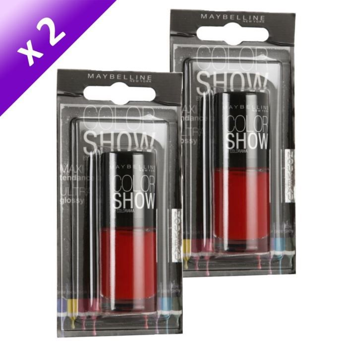 Gemey maybelline vernis ongles power red x2 achat - Meuble rangement vernis a ongles ...