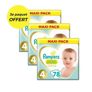 COUCHE PAMPERS Premium Protection Taille 4 - 234 couches