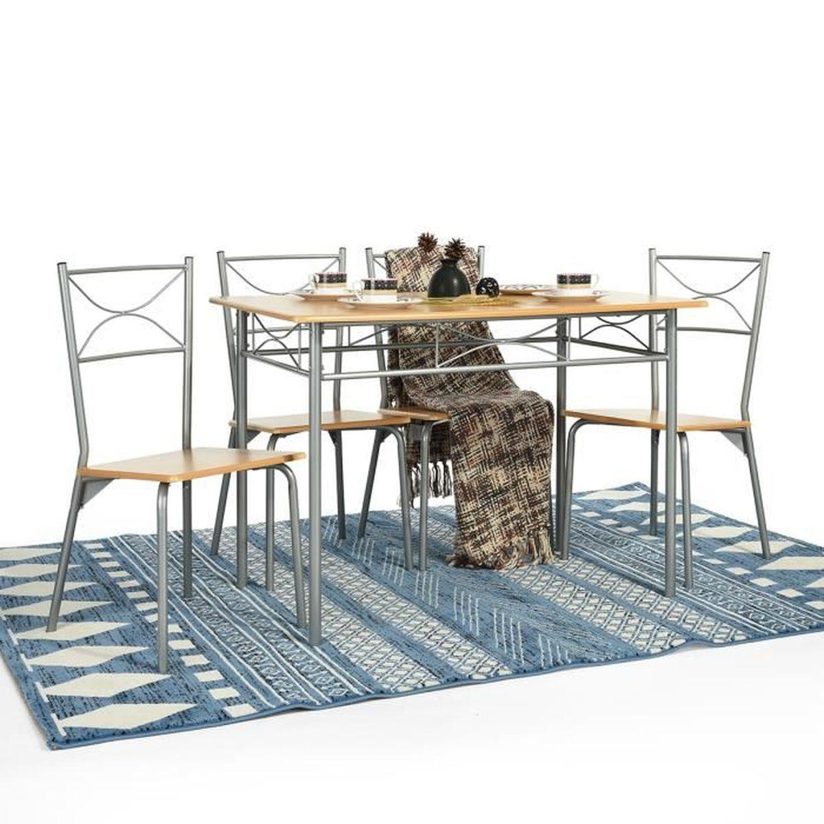 Ensemble De Cuisine 1 Table Et 4 Chaises Salle A Manger Ensembles