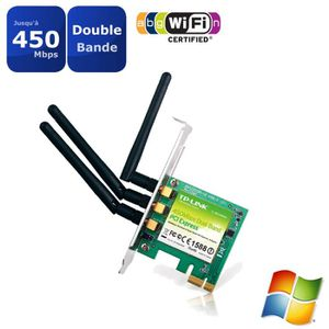 TP-LINK Adaptateur PCI Express double bande WiFi N 450Mbps -WDN4800