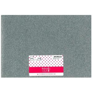 MLLE TOGA Tissu glitter thermocollant - A4 - argent
