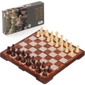 JEU SOCIÉTÉ - PLATEAU Jeu d'échecs et jeu de dames aimanté