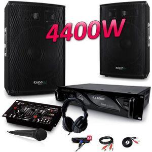 PACK SONO PACK SONO 4400W DJ PA Set BAR CLUB DISCO15B + Ampl