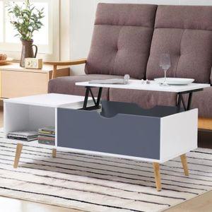 TABLE BASSE Table basse plateau relevable EFFIE scandinave boi