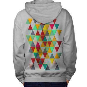 Triangles formes Hommes Contraste à Capuche Newwellcoda