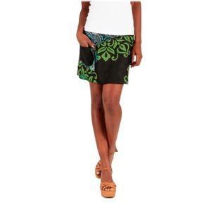JUPE LE ORANGE MOON - Jupe courte femme imprimée - Noir
