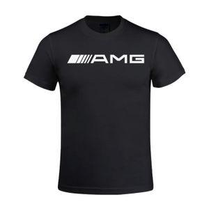 T-SHIRT T-shirt Homme Mercedes Benz AMG Car Logo  Manches