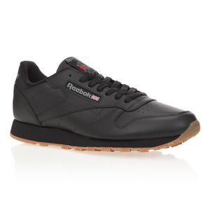 BASKET REEBOK Baskets Classic Leather - Homme - Noir et m