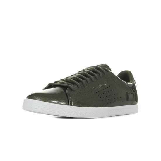 Baskets Le Coq Sportif Charline Coated S Leather Vert Vert olive - Achat / Vente basket