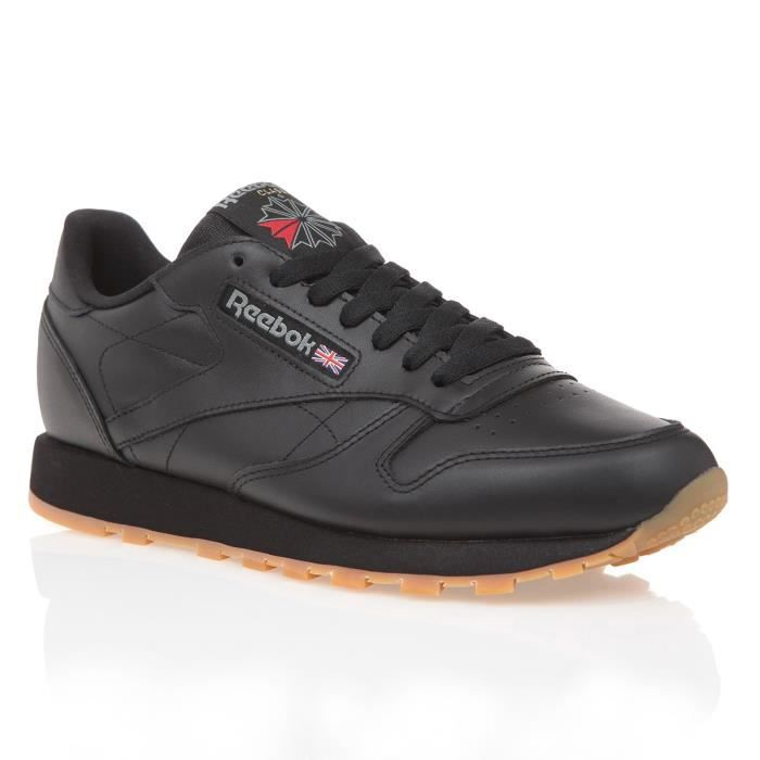 Leather Chaussure Noir Homme Reebok Baskets Classic qSLMVUzpG
