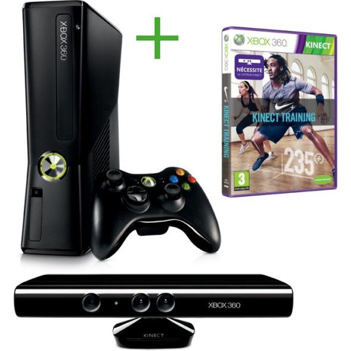 CONSOLE XBOX 360 PACK XBOX 360 4GO + KINECT + NIKE