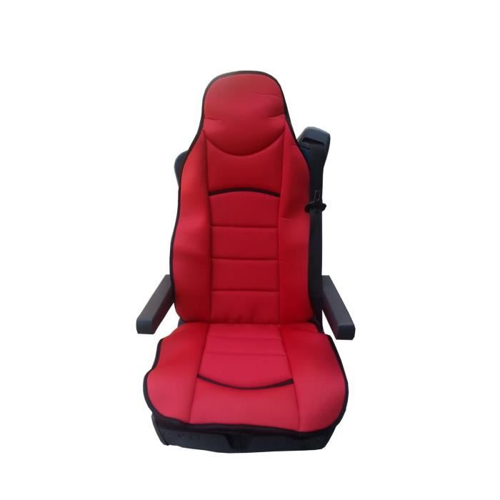 1x LUXE HOUSSE COUVRE SIEGE COUVRE-SIEGE ROUGE POUR SCANIA 4 G P R SERIES