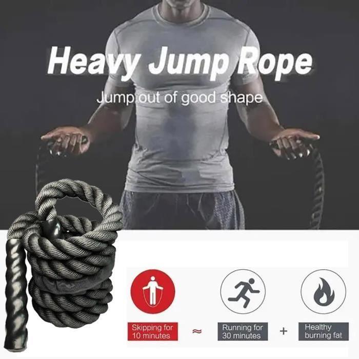 Cordes à sauter lourdes de fitness de 25 mm pour hommes et femmes _pian944
