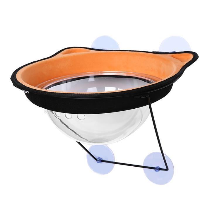 Hamac Lit de fenêtre de chats de tasse d'aspiration Chats créatifs reposant le siège avec le capot d'espace ZMQ91224003OR_3780